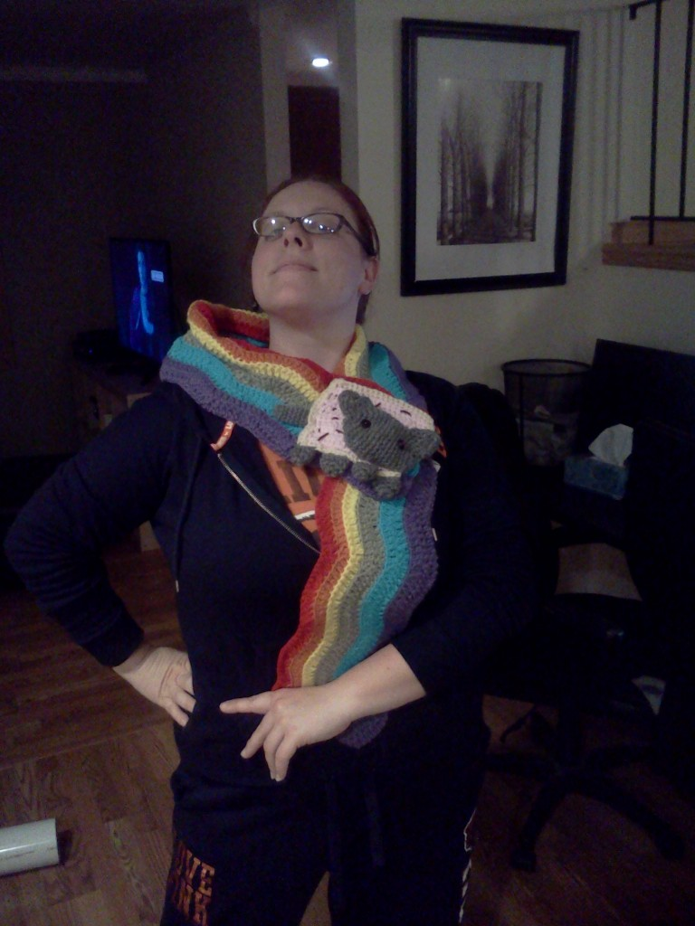 Modeling my new scarf