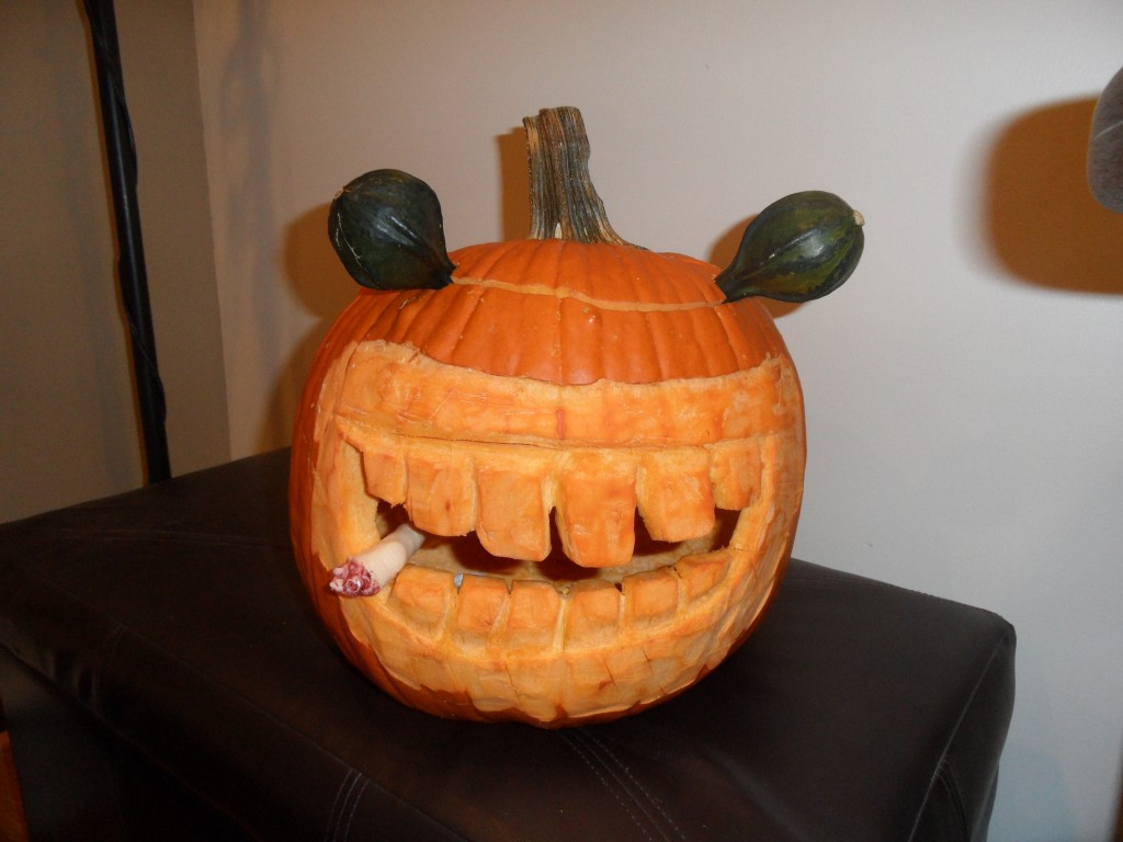 Finger-Eating Carved Pumpkin