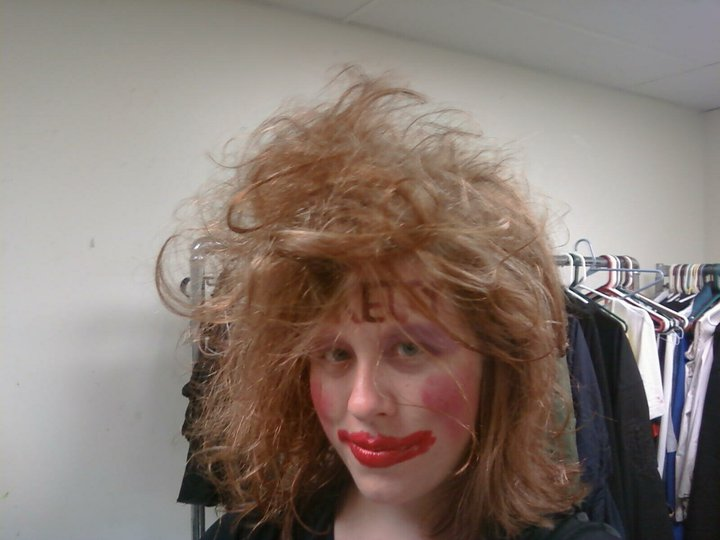 Crazy Haunted House Costume with Teased Hair