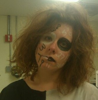 Crazy Haunted House Costume Numbers Clown