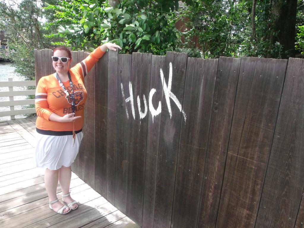Huck at Tom Sawyer Island