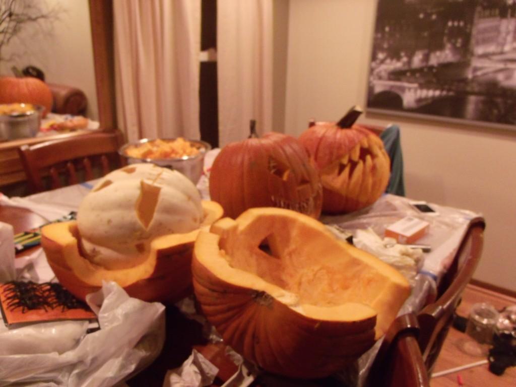 More carved pumpkins
