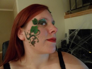 Poison Ivy Makeup