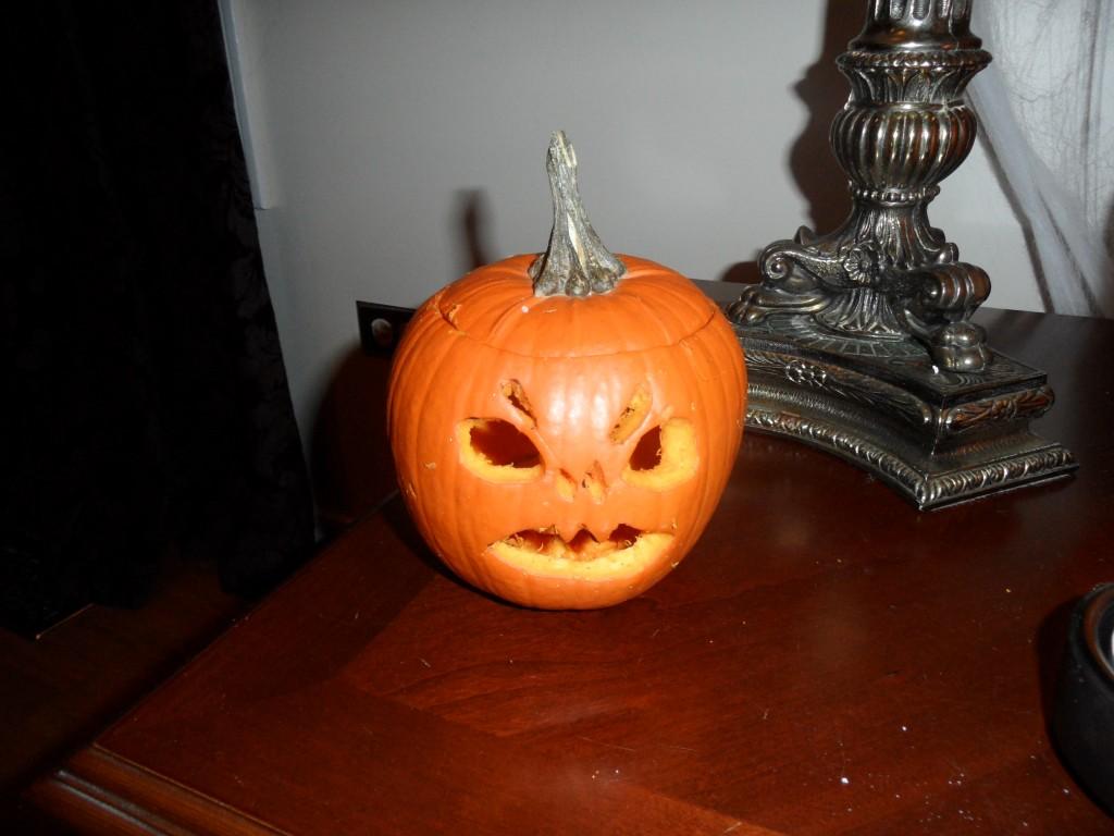Little pie pumpkin jack o lantern