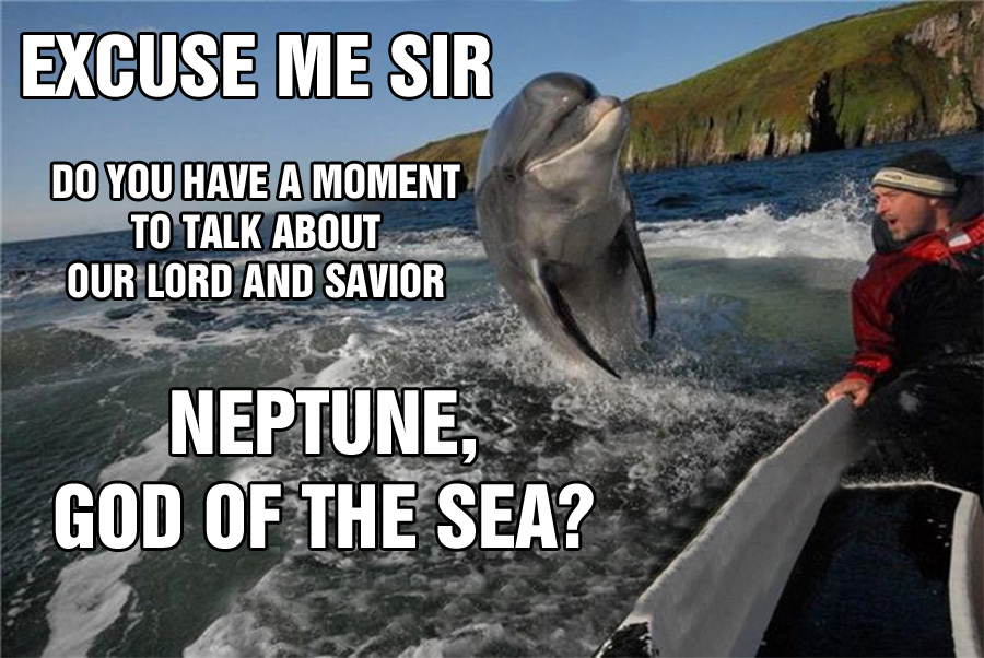 Dolphins Neptune God of the Sea Preachers
