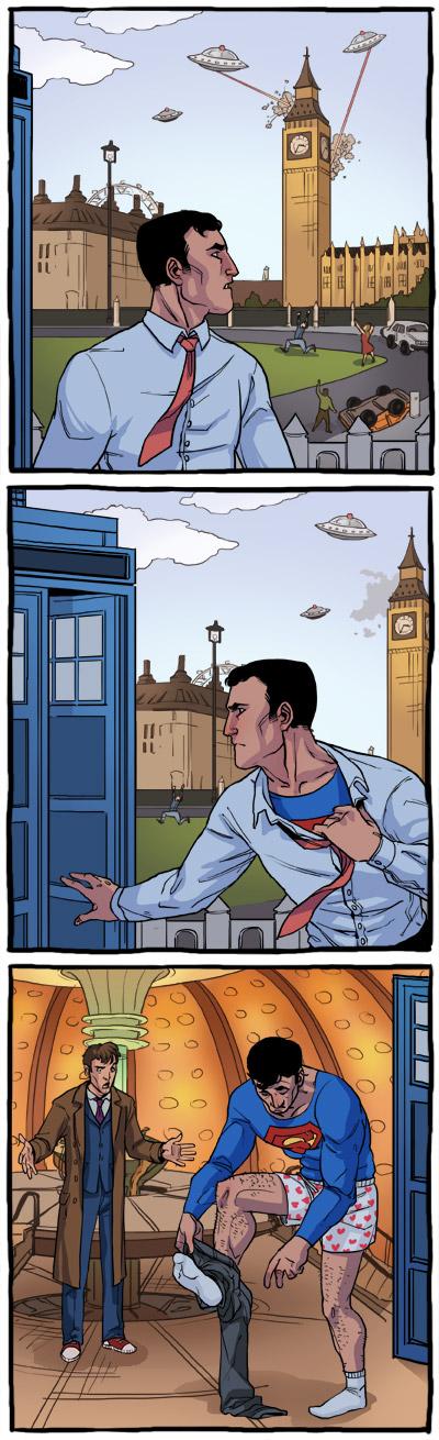 Superman meets Dr. Who