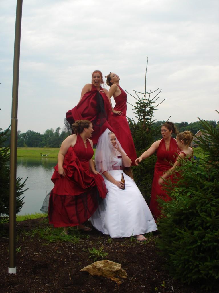 funny bridesmaid photos