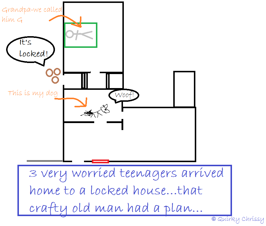 Sneaking into the house is hard when you're a teenager...