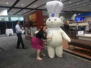 Pillsbury doughboy at BlogHer13