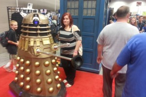 Quirky Chrissy and a Dalek