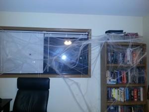 Spiderwebbed office