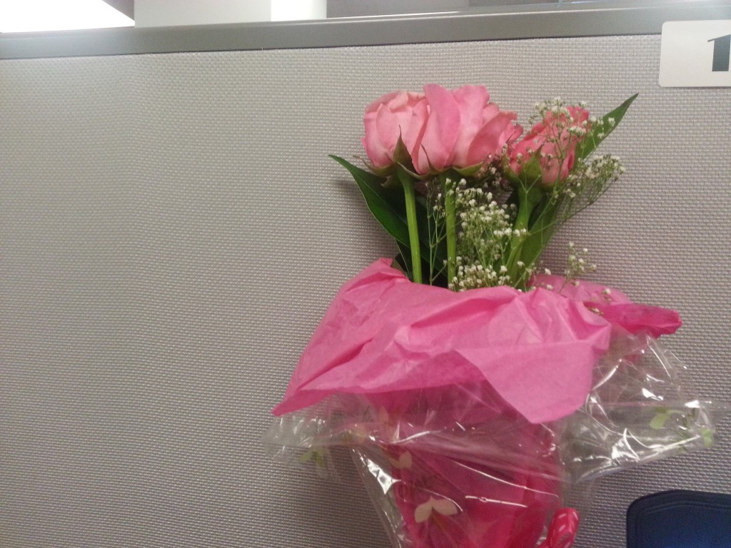 Flowers from co-workers