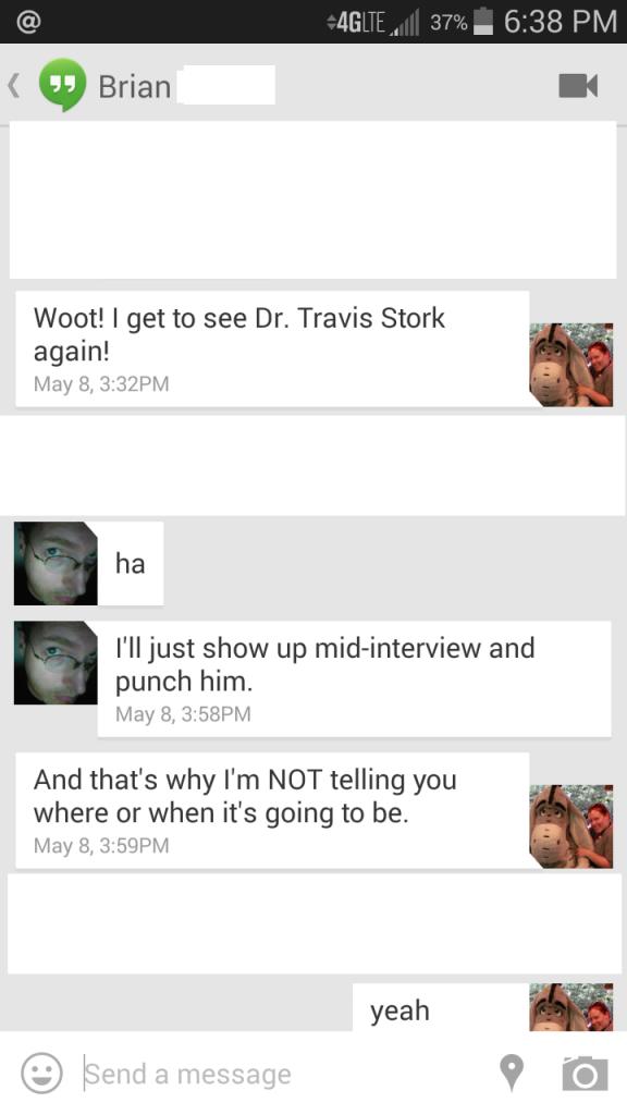 Textversation My boyfriend wants to punch Dr. Stork