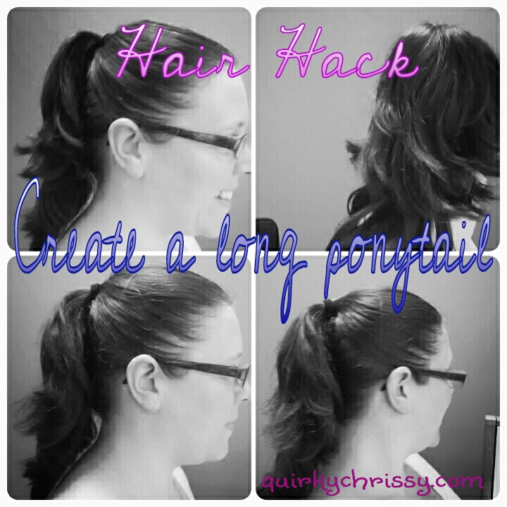 You can create a long luscious ponytail without the use of extensions or fancy hair products.