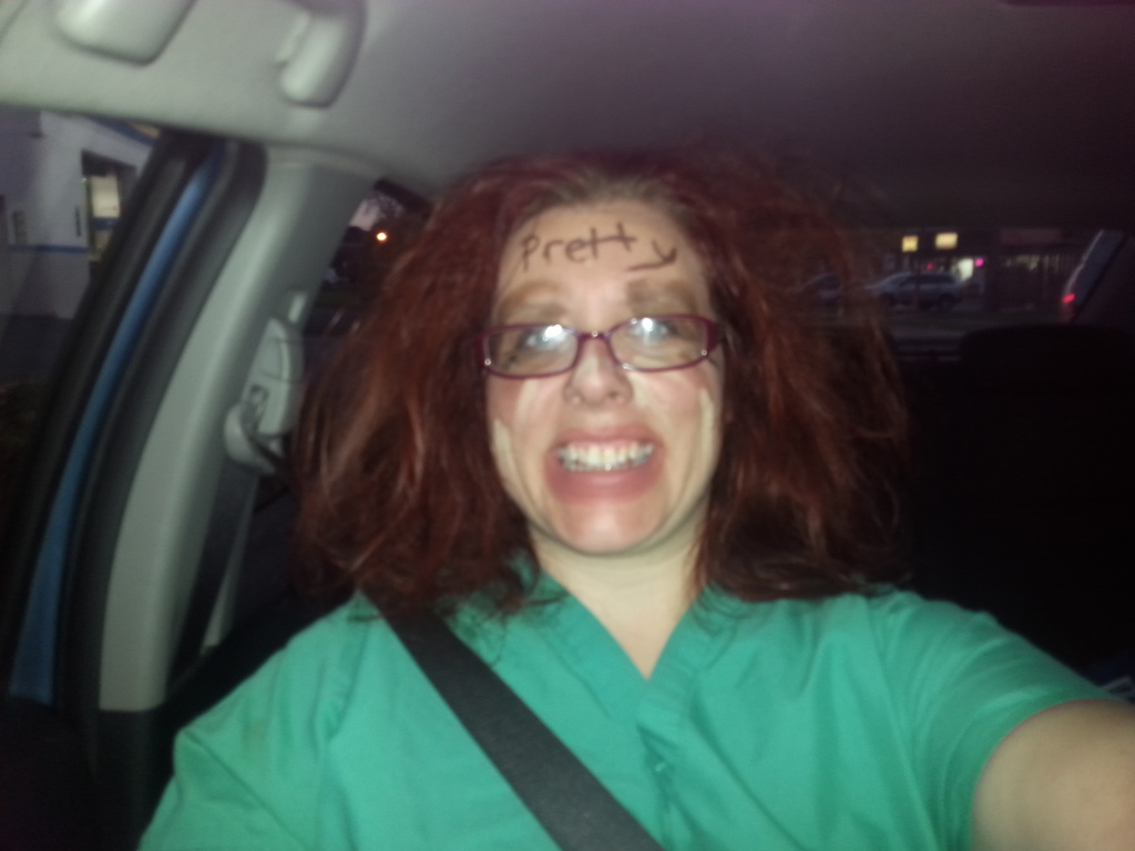 Disclaimer: Normal people don't do their hair like this. But it's Halloween week, y'all.