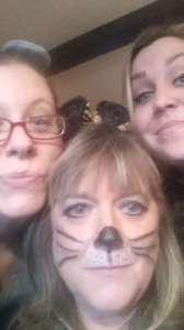 My mom, my aunts, and my cousin were at cats for Halloween. Me? I was a mouse.