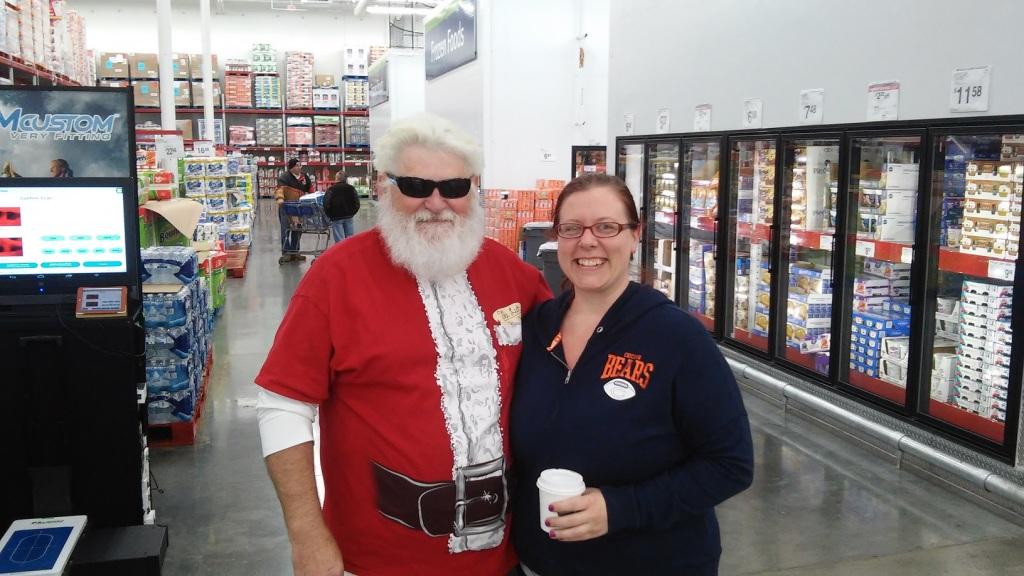 Santa Shops at Sam's Club