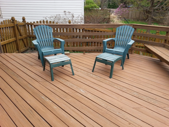 Don't they look adorable on our deck?