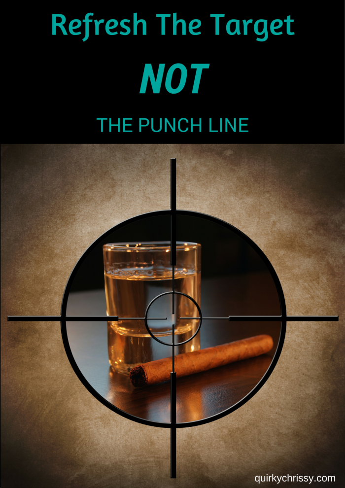 Refresh the target not the punchline. Alcohol jokes are targeted at adults. Let's worry more about what the kids are doing than the parents, eh-
