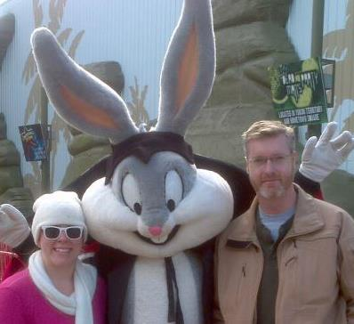 Brian and Chrissy at Six Flags Great America Fright Fest