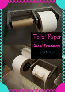 There's a social experiment happening at my office, and they're messing with the toilet paper.
