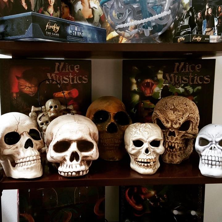 my Halloween skull collection