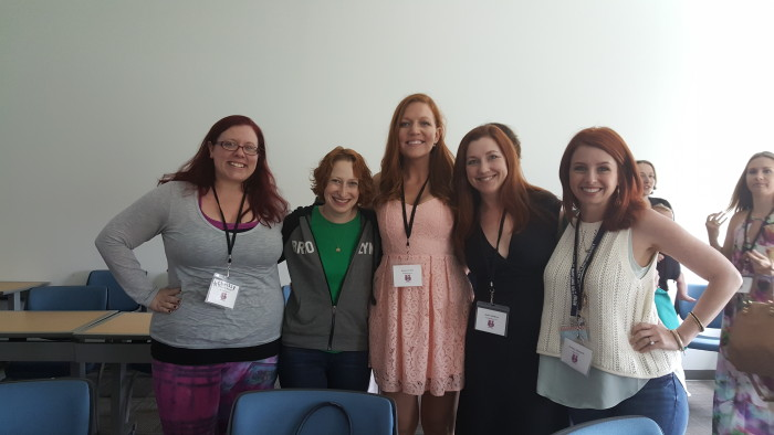Just me and a bunch of awesome ginger writers. No big deal