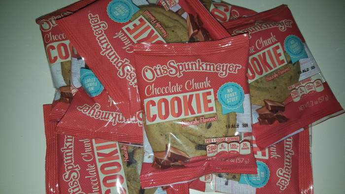 Otis Spunkmeyer cookies come individually wrapped with no funky stuff!