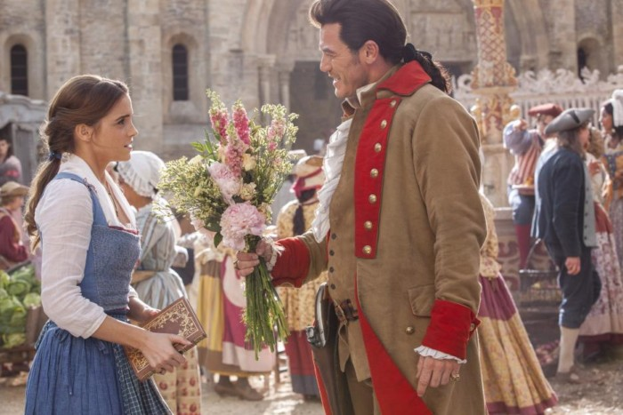 Gaston tries to Charm Belle with flowers