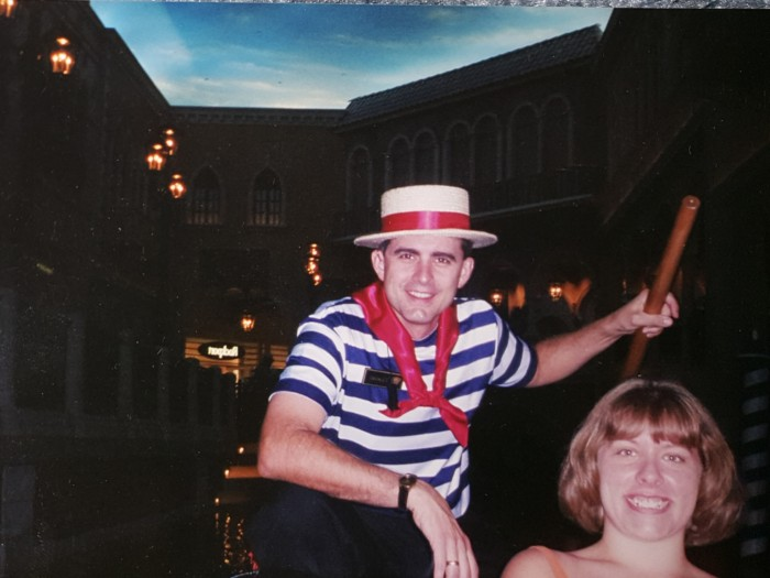 Chrissy at 17 with a vegas gondolier
