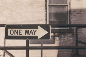 one-way street sign
