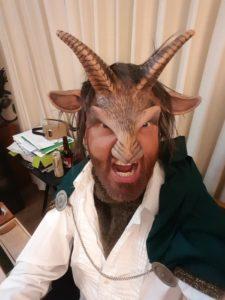 beast costume head and upper body