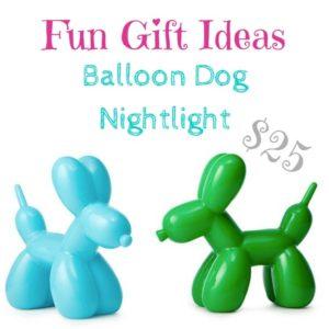 fun gift ideas: balloon dog nightlight $25