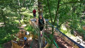 Flying high GoApe Ropes Course and ZipLine