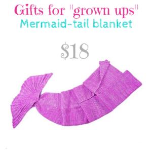 Gifts for _grown ups_ mermaid tail blanket $18