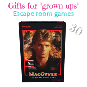 """Gifts for """"grown ups"""" MacGyver The Escape Room Game $30"""