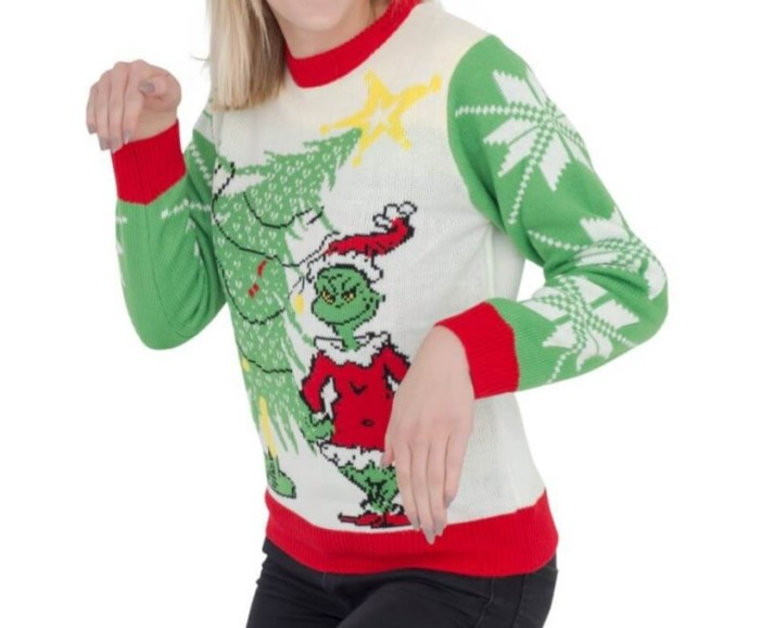 Grinch ugly Christmas sweater