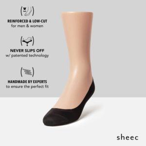 Sheec no-show socks that won't slip off